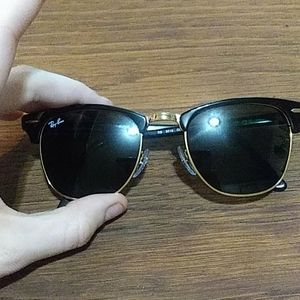 Clubmaster Rayban sunglasses black and gold